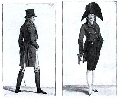 La moda maschile tra 1800 e 1830